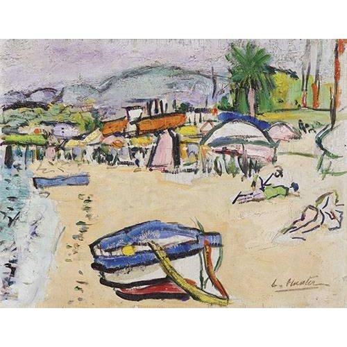 Cuadro -On the beach, South of France-