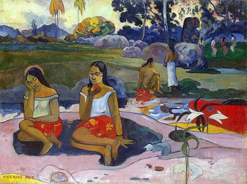 cuadros-de-paisajes - Cuadro -Nave Nave Moe- - Gauguin, Paul
