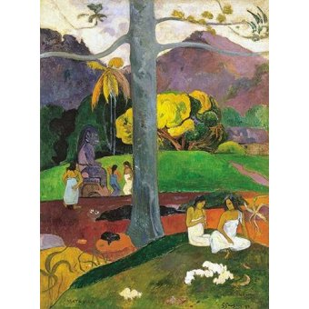 - Cuadro -Mata Mua (in olden times), 1892- - Gauguin, Paul