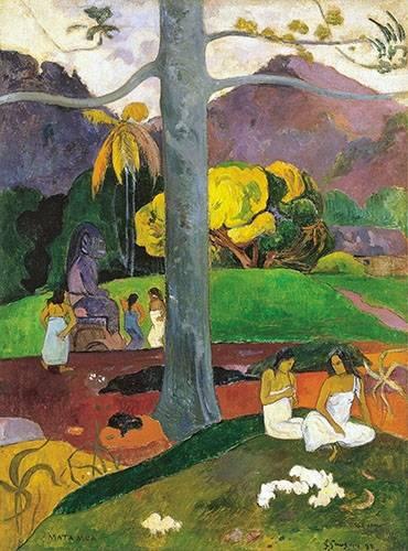 cuadros-de-paisajes - Cuadro -Mata Mua (in olden times), 1892- - Gauguin, Paul