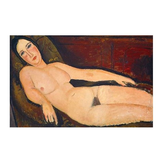 Cuadro -Nude on a Divan, 1918-