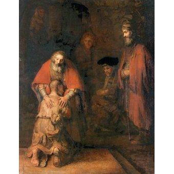 cuadros religiosos - Cuadro -O retorno do filho pródigo- - Rembrandt, Hermensz Van Rijn