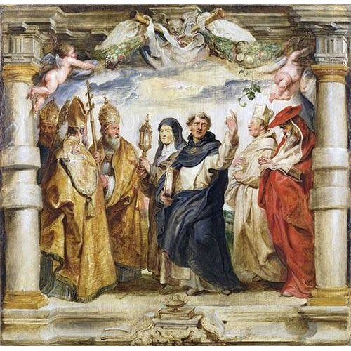 Cuadro -Los defensores de la eucaristia-