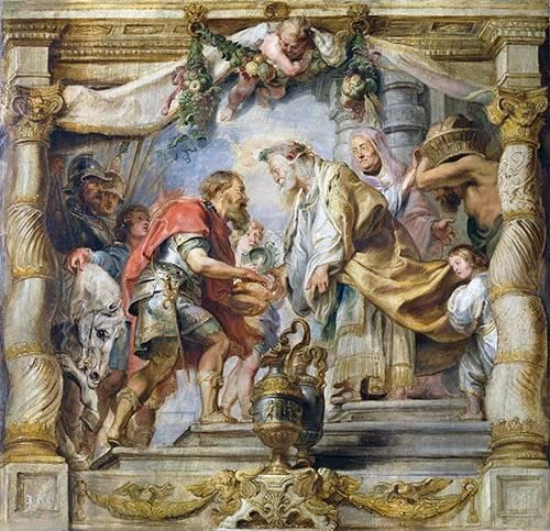cuadros-religiosos - Cuadro -El encuentro de Abraham y Melquisedec- - Rubens, Peter Paulus