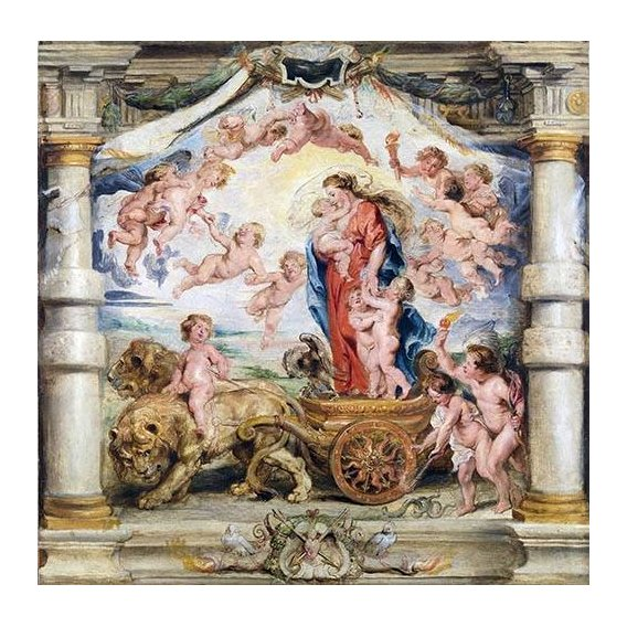 Cuadro -El triunfo del amor divino-