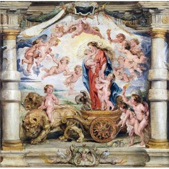 - Cuadro -El triunfo del amor divino- - Rubens, Peter Paulus