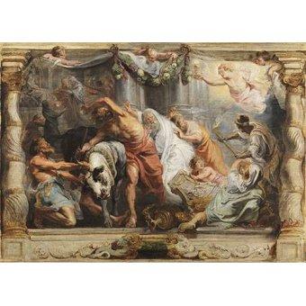 - Cuadro -La victoria de la Eucaristia sobre la Idolatria- - Rubens, Peter Paulus