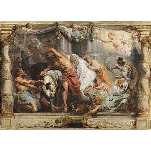 Cuadro -La victoria de la Eucaristia sobre la Idolatria-