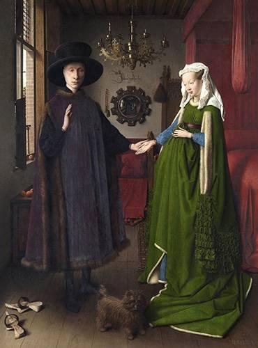 cuadros-de-retrato - Cuadro -Retrato del matrimonio Arnolfini, 1434- - Van Eyck, Jan