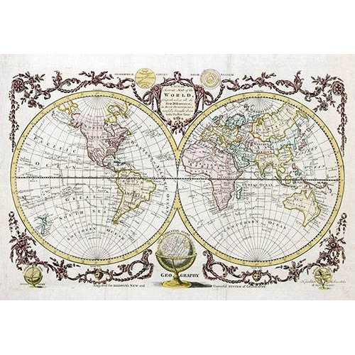 Cuadro -Baldwyn, 1782 - Map of the World-