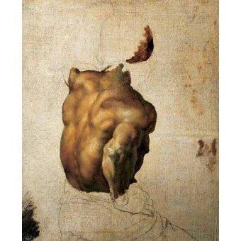 cuadros de desnudos - Cuadro -Estudio de torso- - Gericault, Theodore