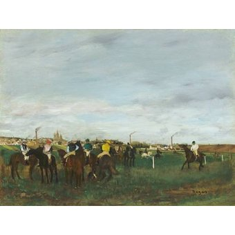 - Cuadro -The Races- - Degas, Edgar