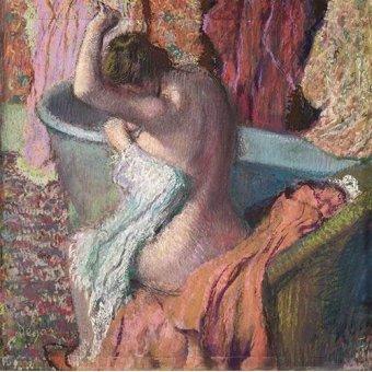 - Cuadro -Despues del baño- - Degas, Edgar
