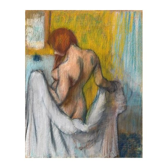 Cuadro -Woman with a towel-
