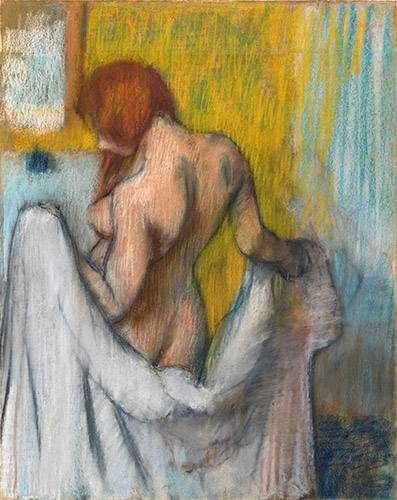 cuadros-de-retrato - Cuadro -Woman with a towel- - Degas, Edgar