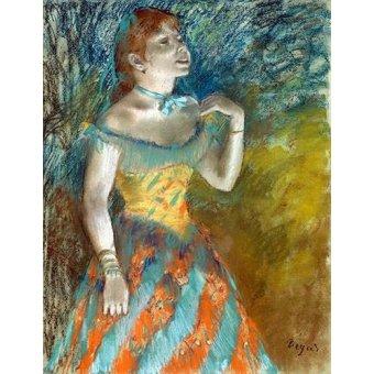 cuadros de retrato - Cuadro -Cantora em verde- - Degas, Edgar
