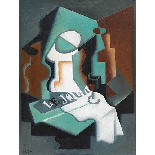 Cuadro -Botella y frutero, 1919-