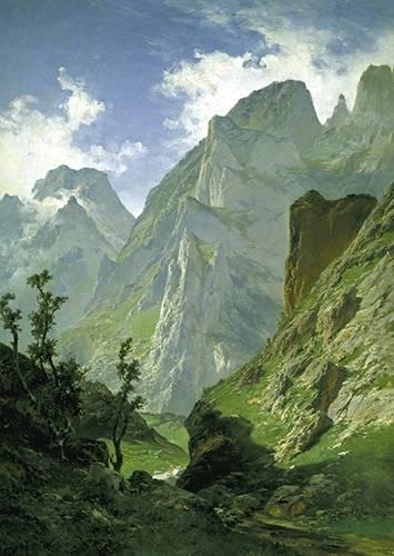 cuadros-de-paisajes - Cuadro -Picos de Europa- - Haes, Carlos de
