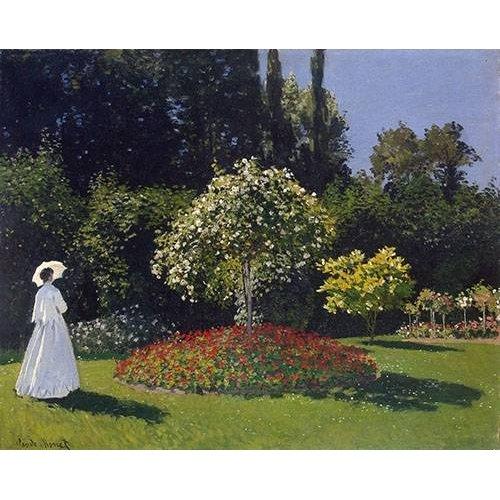 Cuadro -Mujer en el jardin, 1867-