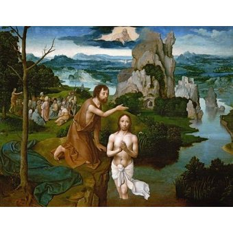 cuadros religiosos - Cuadro -Baptism of Christ_Bautismo de Cristo- - Patinir, Joachim
