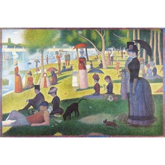 - Cuadro -Sunday Afternoon on the Island of La Grande Jatte, 1884-86- - Seurat, Georges