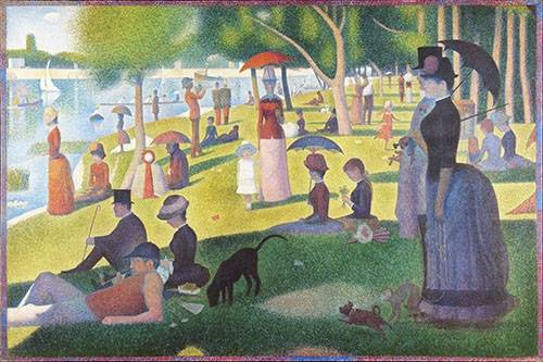 cuadros-de-retrato - Cuadro -Sunday Afternoon on the Island of La Grande Jatte, 1884-86- - Seurat, Georges