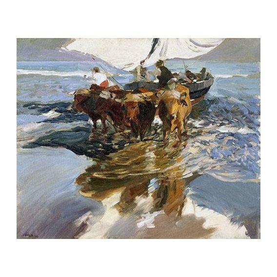 Cuadro -Vuelta de la pesca, playa de Valencia-