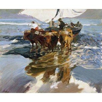 cuadros de marinas - Cuadro -Vuelta de la pesca, playa de Valencia- - Sorolla, Joaquin
