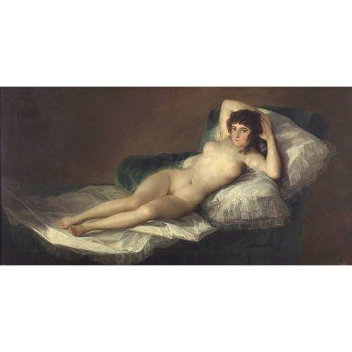 cuadros de retrato - Cuadro -La maja desnuda-