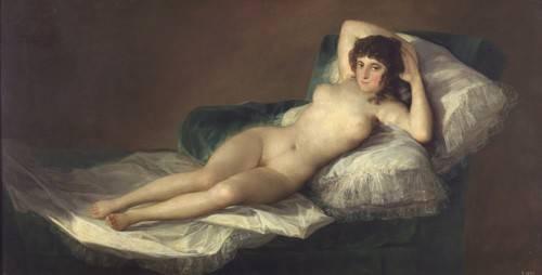 cuadros-de-retrato - Cuadro -La maja desnuda- - Goya y Lucientes, Francisco de