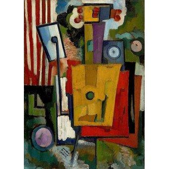 cuadros de bodegones - Cuadro -Vida dos Instrumentos, 1916- - Souza-Cardoso, Amadeo de