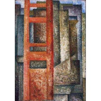 cuadros abstractos - Cuadro -Pelas Janelas (Desdobramento-Intersecção)- - Souza-Cardoso, Amadeo de