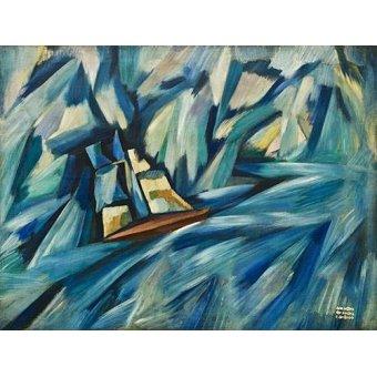 cuadros de marinas - Cuadro -La Chalupa, 1914-15- - Souza-Cardoso, Amadeo de