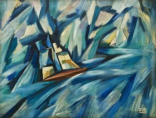 cuadros-abstractos - Cuadro -La Chalupa, 1914-15- - Souza-Cardoso, Amadeo de
