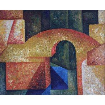 cuadros abstractos - Cuadro -Puente- - Souza-Cardoso, Amadeo de