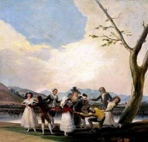 cuadros-de-retrato - Cuadro -La gallina ciega- - Goya y Lucientes, Francisco de