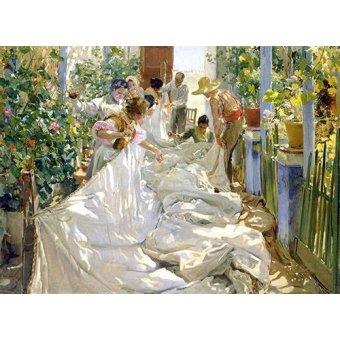 Hall - Cuadro -Cosiendo la vela, 1896- - Sorolla, Joaquin