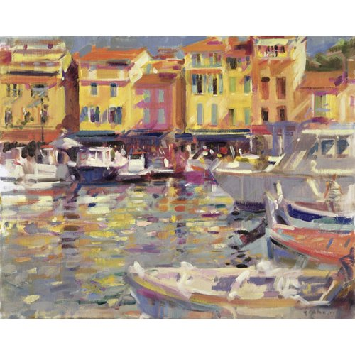 Cuadro -Harbour at Cassis (oil on canvas) -