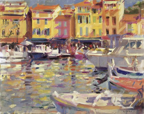 cuadros-modernos - Cuadro -Harbour at Cassis (oil on canvas) - - Graham, Peter