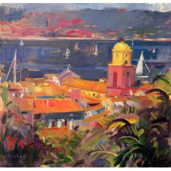 cuadros de marinas - Cuadro -St Tropez Sailing, 2002 - - Graham, Peter