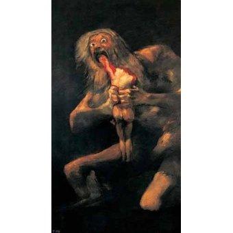 cuadros de retrato - Cuadro -Saturno devorando a un hijo(1821-23)- - Goya y Lucientes, Francisco de