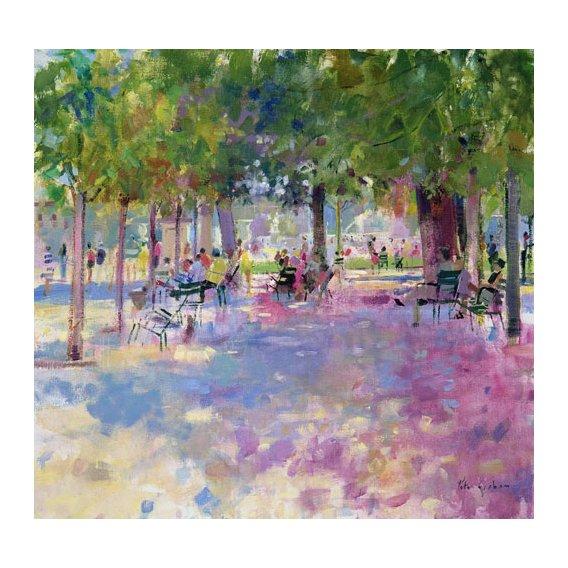 Cuadro -Tuileries, Paris (oil on canvas)-