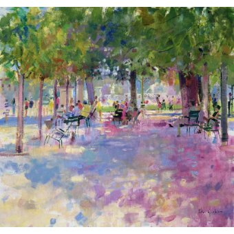 Cuadro -Tuileries, Paris (oil on canvas)-