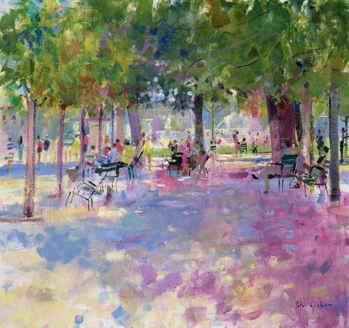 cuadros-modernos - Cuadro -Tuileries, Paris (oil on canvas)- - Graham, Peter