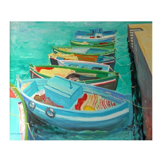 Cuadro -Blue Boats, 2003-