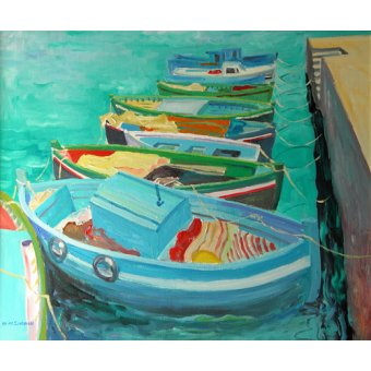 - Cuadro -Blue Boats, 2003- - Ireland, William