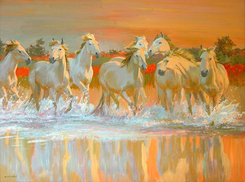 cuadros-modernos - Cuadro -Camargue- - Ireland, William