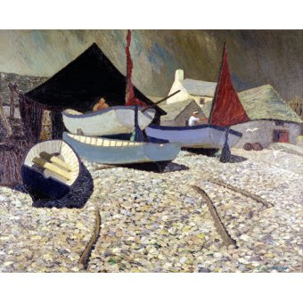 cuadros de marinas - Cuadro -Cadgwith, the Lizard (oil on canvas)- - Hains, Eric