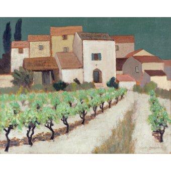 - Cuadro -Vineyard, Provence - - Hains, Eric
