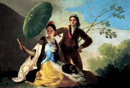 cuadros-de-retrato - Cuadro -El quitasol, 1777- - Goya y Lucientes, Francisco de